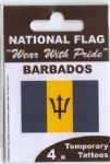 Barbados Country Flag Tattoos.